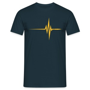 Navy Pulse Beat EKG (1c, NEU) Men's T-Shirts - Men's T-Shirt