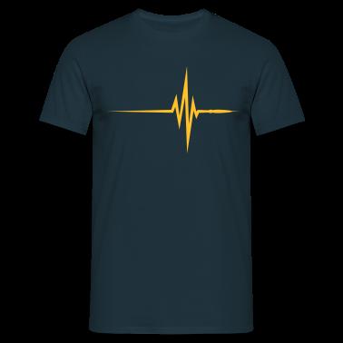 Navy Pulse Beat EKG (1c, NEU) Men's T-Shirts