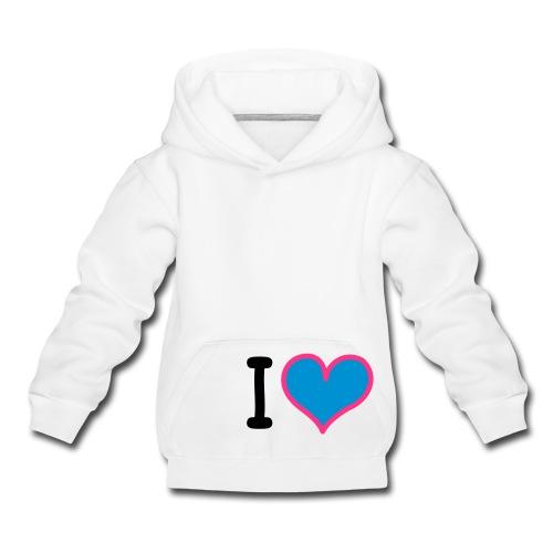 heart 3 - Felpa con cappuccio Premium per bambini