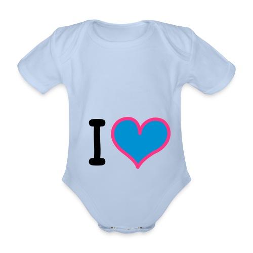 heart 3 - Body ecologico per neonato a manica corta