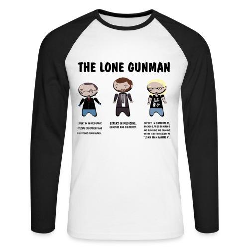 Camiseta Expediente X, Lone Gunman - chico manga larga - Raglán manga larga hombre