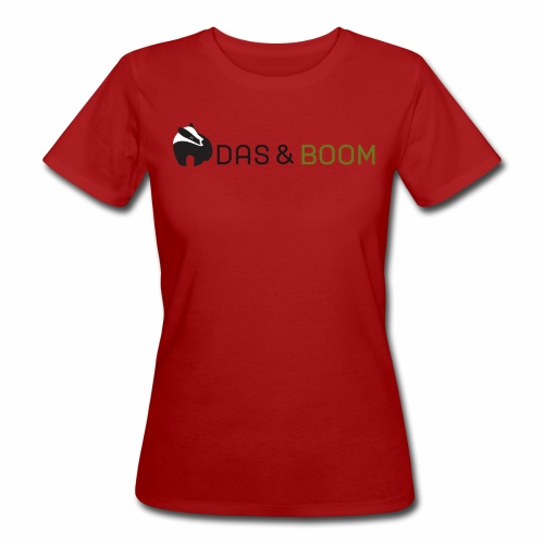 Dames-T-shirt bio 'Logo Das&Boom' - Vrouwen Bio-T-shirt