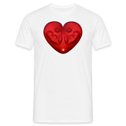 Heart Fitness Red - Männer T-Shirt