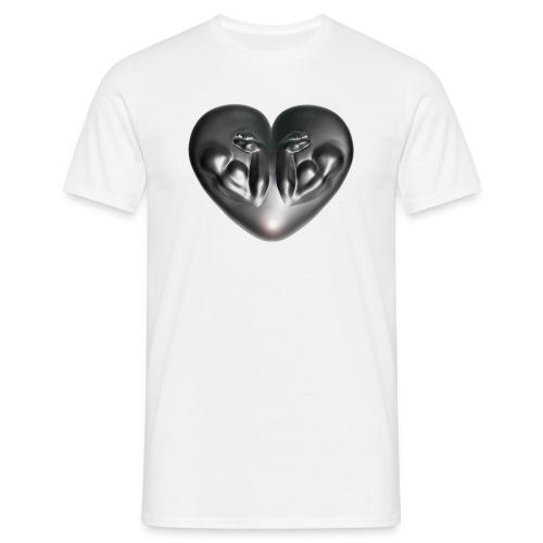 Heart Fitness Silver - Männer T-Shirt