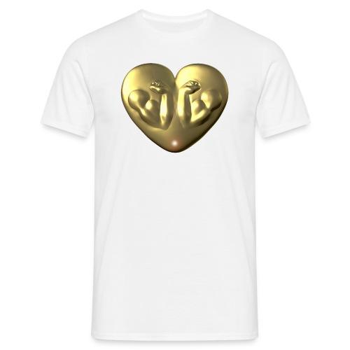 Heart Fitness Gold - Männer T-Shirt