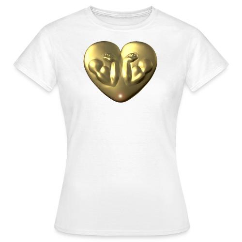 Heart Fitness Gold - Frauen T-Shirt
