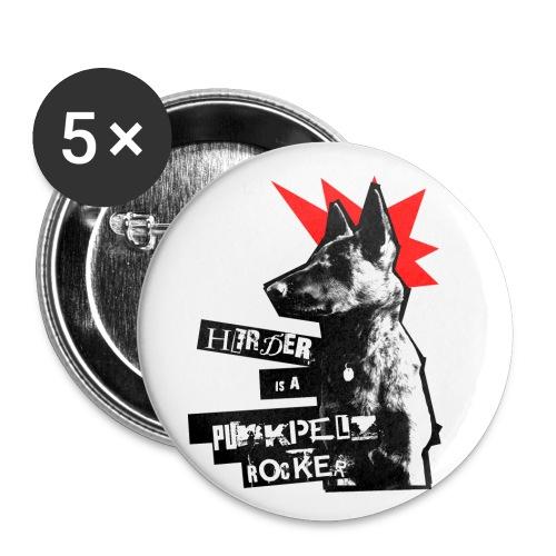 Herder - 5 buttons - Buttons klein 25 mm (5er Pack)