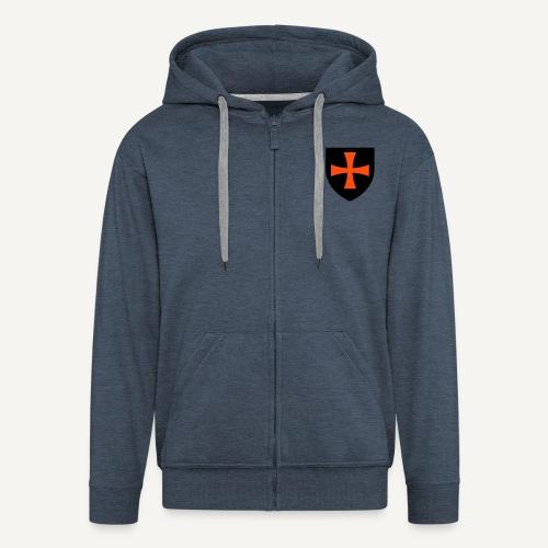 Flaga Zakonu Krzyżackiego  (bluza rozpinana) - Rozpinana bluza męska z kapturem Premium
