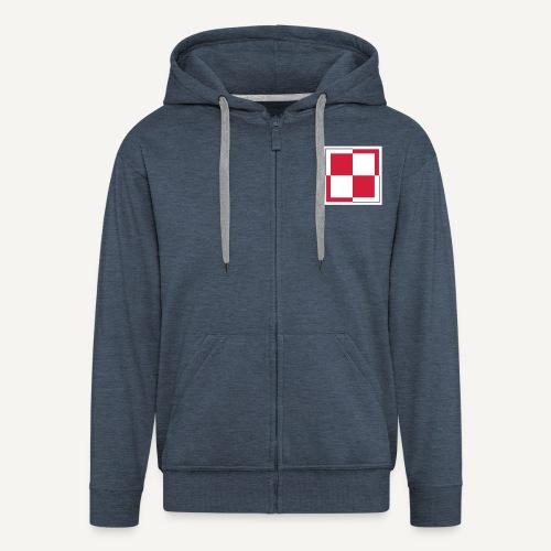 Odznaka lotnictwa polskiego (bluza rozpinana) - Rozpinana bluza męska z kapturem Premium