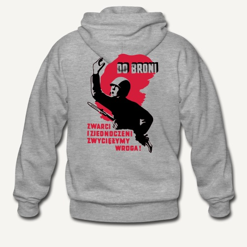 Do broni! (bluza rozpinana) - Rozpinana bluza męska z kapturem Premium