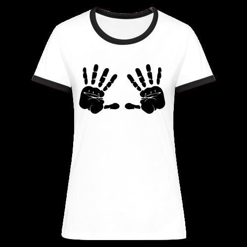 Hände - Frauen Kontrast-T-Shirt