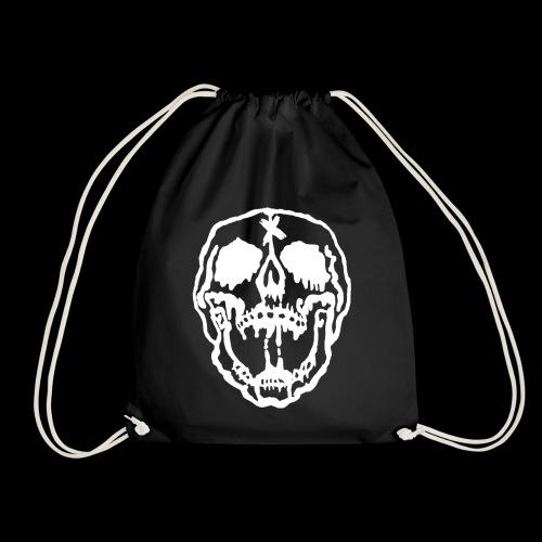 Dripping Skull Drawstring Bag - Drawstring Bag