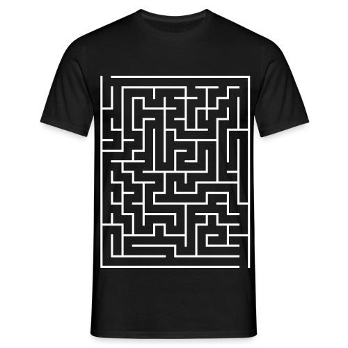 Maze - Irrgarten - Rätsel - Männer T-Shirt