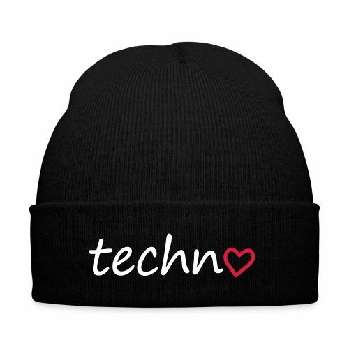 Techno mit Herz - Wollmütze - Wintermütze