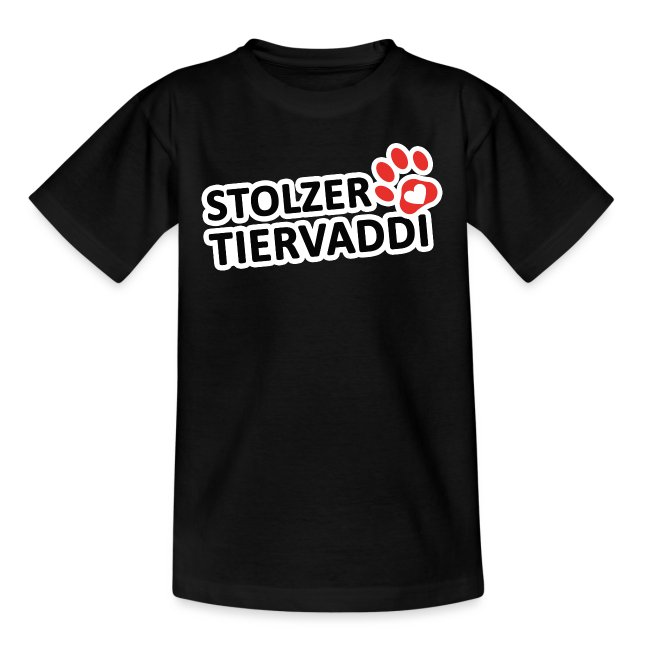 Stolzer Tiervaddi Kinder T-Shirt
