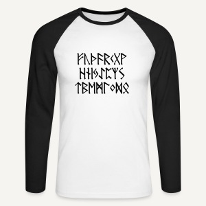 Futhark - Koszulka męska bejsbolowa z długim rękawem