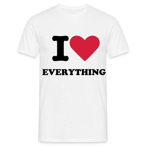 I Love Everything - Camiseta hombre
