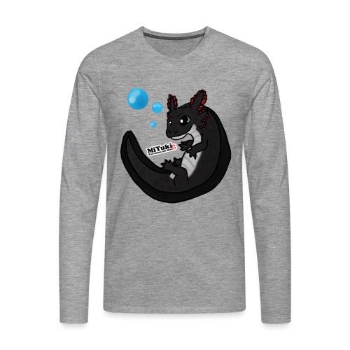 Axolotl Männer Langarm-Shirt - Männer Premium Langarmshirt