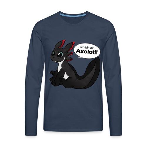 Ich bin ein Axolotl Männer Langarm-Shirt - Männer Premium Langarmshirt