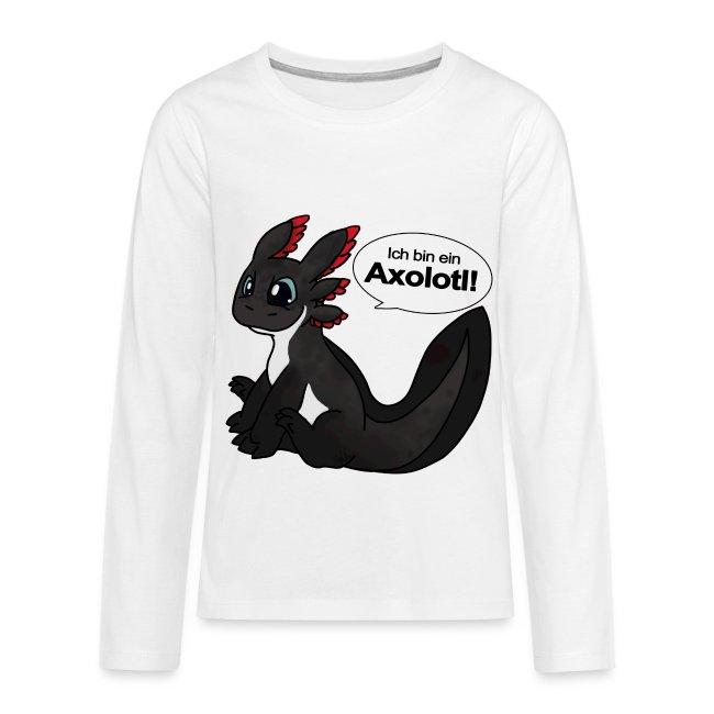 Ich bin ein Axolotl Teenie Langarm-Shirt