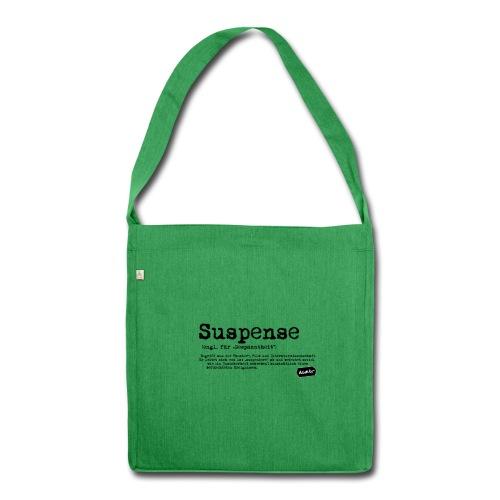 Suspense Umhängetasche grün - Schultertasche aus Recycling-Material