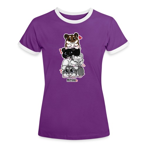Zwergenturm Frauen Kontrast T-Shirt - Frauen Kontrast-T-Shirt
