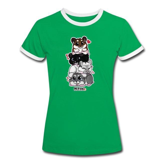 Zwergenturm Frauen Kontrast T-Shirt
