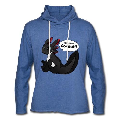 Ich binein Axolotl Unisex Kapuzen-Sweatshirt - Leichtes Kapuzensweatshirt Unisex