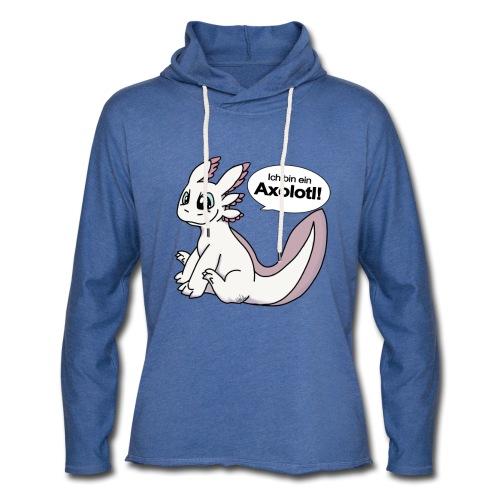 Ich binein Axolotl Weißling Unisex Kapuzen-Sweatshirt - Leichtes Kapuzensweatshirt Unisex