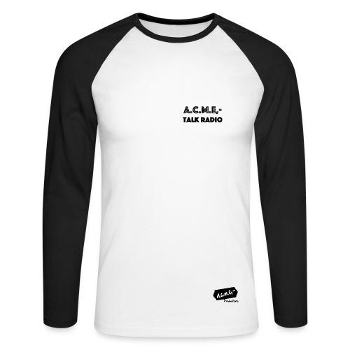 acme talkradio - Männer Baseballshirt langarm