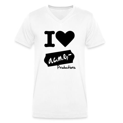 I love acme - Männer Bio-T-Shirt mit V-Ausschnitt von Stanley & Stella