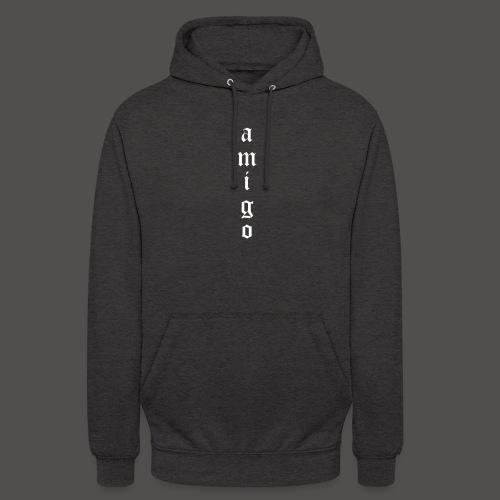 Amigo Hoodie Grey/White - Unisex Hoodie
