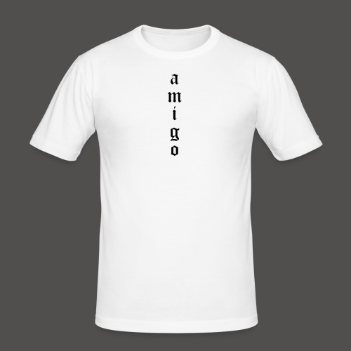 Amigo T-Shirt White/Black - Männer Slim Fit T-Shirt