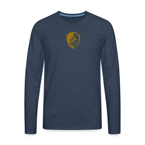 LK Manche Longue Premium BLEU OR 2 - Männer Premium Langarmshirt