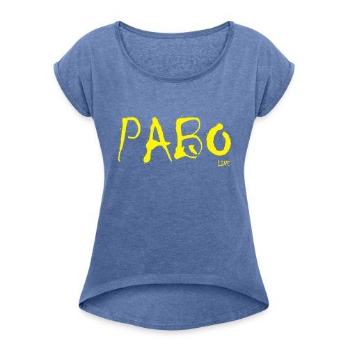 Frauen T-shirt mit gerollten Ärmeln paboline - Frauen T-Shirt mit gerollten Ärmeln