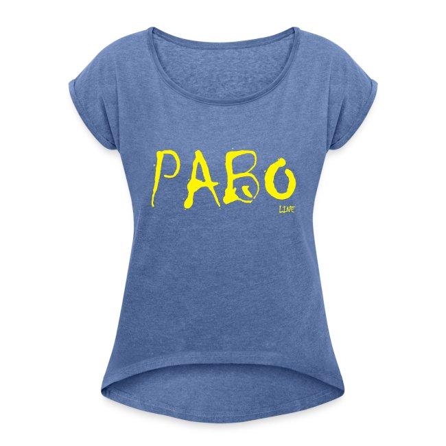 """Frauen T-shirt mit gerollten Ärmeln """"paboline"""""""