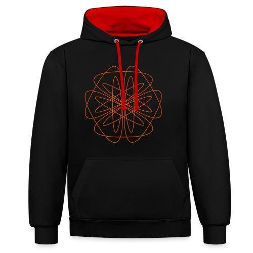 Kontrast-Hoodie - Entdecke in diesem Mandala den Zauber von Symmetrie und Vollendung. Das Motiv lädt ein zur Meditation und Entspannung.