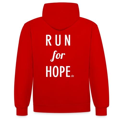RUN for HOPE Männer Hoodie - Kontrast-Hoodie