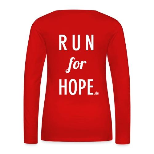 RUN for HOPE Frauen Long Sleeve rot - Frauen Premium Langarmshirt