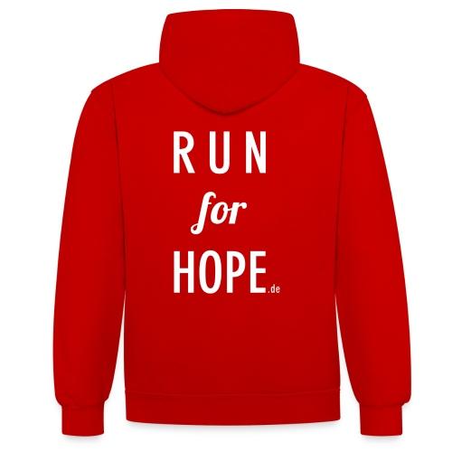 RUN for HOPE Frauen Hoodie - Kontrast-Hoodie