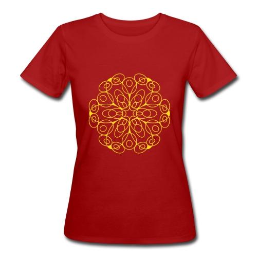 Frauen Bio-T-Shirt - Entdecke in diesem Mandala den Zauber von Symmetrie und Vollendung. Das Motiv lädt ein zur Meditation und Entspannung.