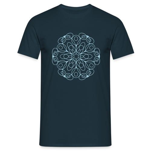 Männer T-Shirt - Entdecke in diesem Mandala den Zauber von Symmetrie und Vollendung. Das Motiv lädt ein zur Meditation und Entspannung.