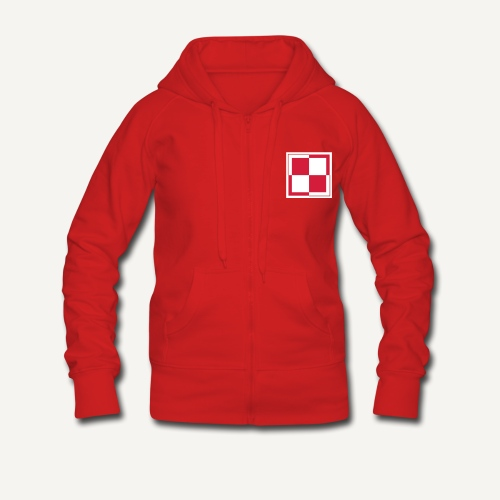 Odznaka lotnictwa polskiego - Rozpinana bluza damska z kapturem Premium
