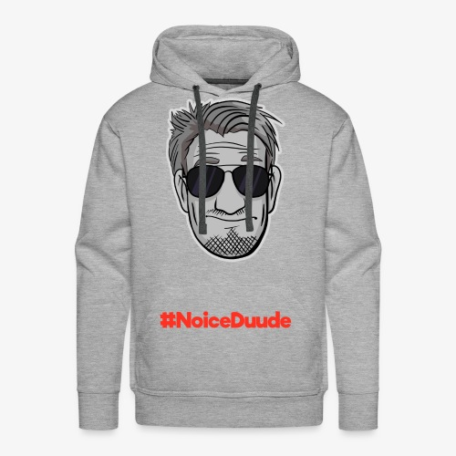 DerDummbabbler Face + Schrift Männer Premium Hoodie - Männer Premium Hoodie
