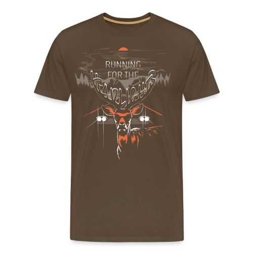 Running For The Headlights  ♂ - Herre premium T-shirt