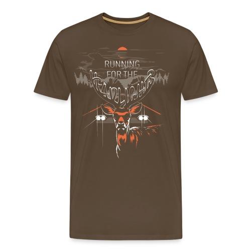 Running For The Headlights  ♂ - Herre premium T-shirt
