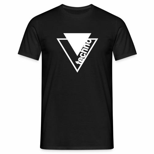 Techno Dreieck T-Shirt - Männer T-Shirt
