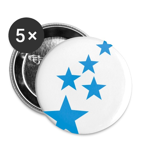 Blue Stars Pin Badge - Buttons small 1''/25 mm (5-pack)