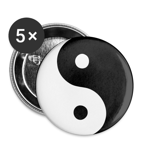 Yin Yan Pin Badge - Buttons small 1''/25 mm (5-pack)
