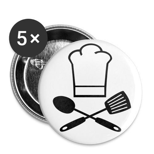 'I am a Qualified Cook!!' Pin Badge - Buttons small 1''/25 mm (5-pack)